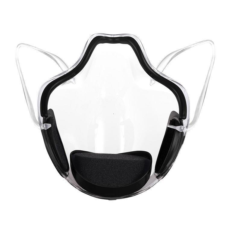 Viso DHL PC trasparente Maschera di protezione anti-fog Shield sordomuto Maschere Lip lingua per donne si coprono la bocca uomini