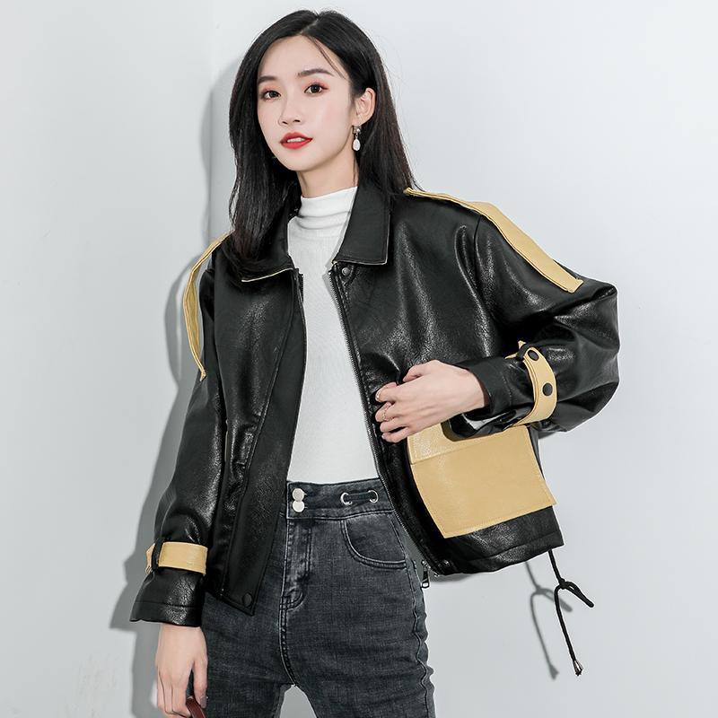 Damen leder faux verkaufen frauen winter pu jacke kurze geschnitten dicke warme lokomotive mode samt mantel für
