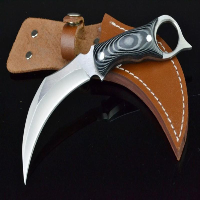 High Recominded Debpion Scorpion Claw Knife G10 Maniglia Pieghevole Camping Caccia Coltello Pieghevole Coltello Pieghevole D2 ZT 1pcs Spedizione gratuita