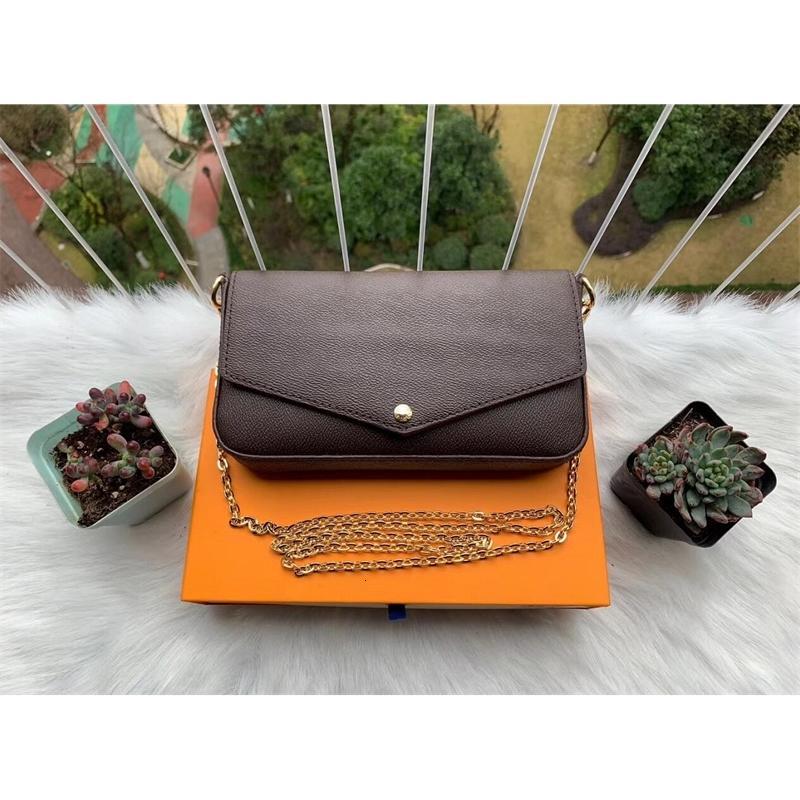 Bolsos de cadena de 3 piezas Diseñadores de lujos de 3 piezas Hombro 2020 Set HA Crossbody Bolsa Estilo Mujer New Xtjch