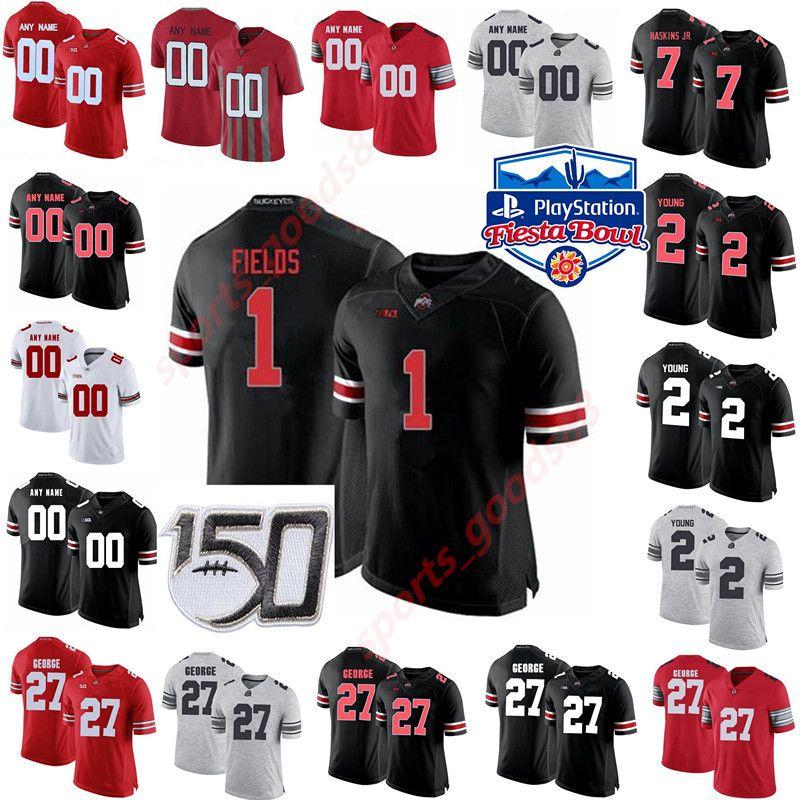 Ohio State Buckeyes College Football Jerseys Mens Garrett Wilson Jersey Fuller JK Dobbins Mike Weber Jr. Couverte sur mesure