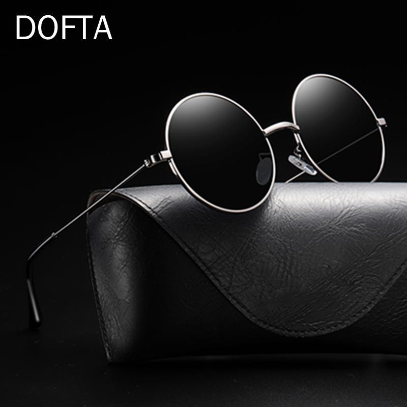 DOFTA For 6610 Ladies Men Vintage Polarized Retro Round Glasses Women Shades Metal Women Sun Black Sunglasses Blvgu
