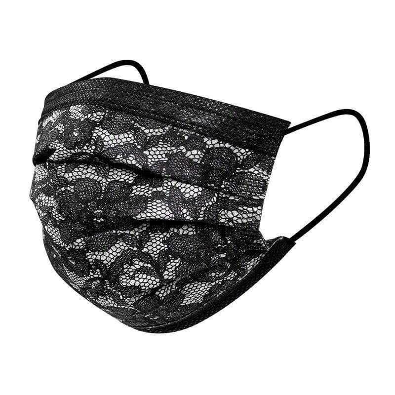 Maskeler Perakende Siyah 10 Adet Baskı Koruyucu Karbon Maskesi Dantel Satılık Üst Yüz Dokumasız Katman Tek Kullanımlık Packae 3 Anti-Toz Aktif Gavxx GBWN