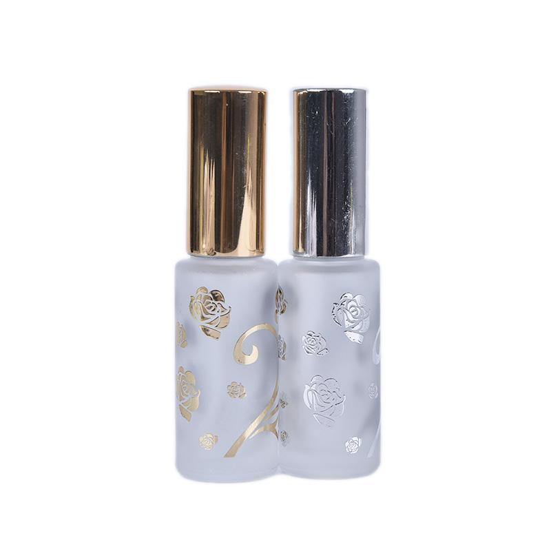 Garrafas de armazenamento frascos 1 pcs portátil 12ml vidro fosco / perfume de metal Pulverizador de pulverizador de pulverização recarregável garrafa de garrafa de frasco com tamanho de viagem