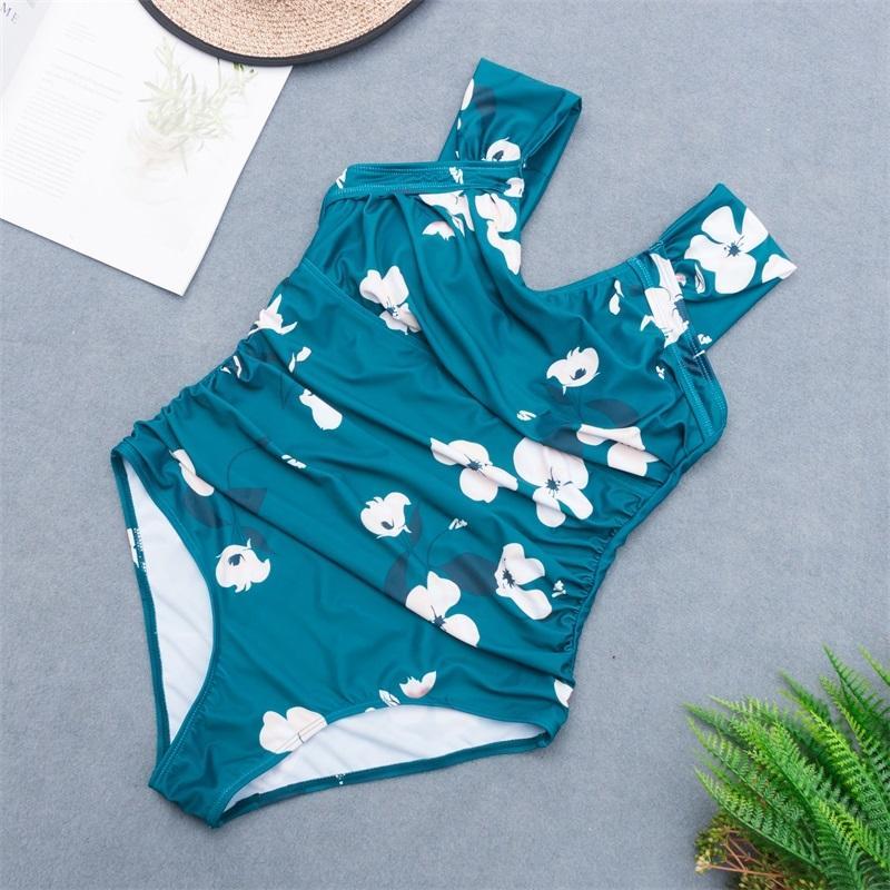 Nuove donne Stampa floreale Sexy Sexy Life Eight Pezzo retrò Swimsuit Samsuit Swimsuit Beachwear Costumi da bagno