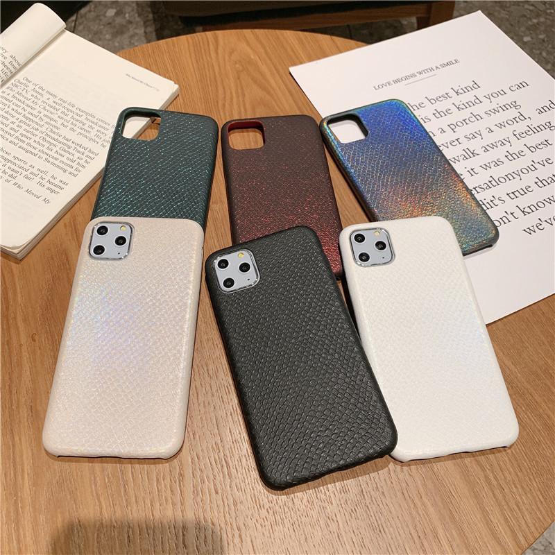 Textura de lujo Bling Glitter Láser Serpiente Ultra Thin PU Cuero de cuero Funda Back Back Back para iPhone 11 Pro Max 2019 XR XS X 6 6S 7 8 PLUS
