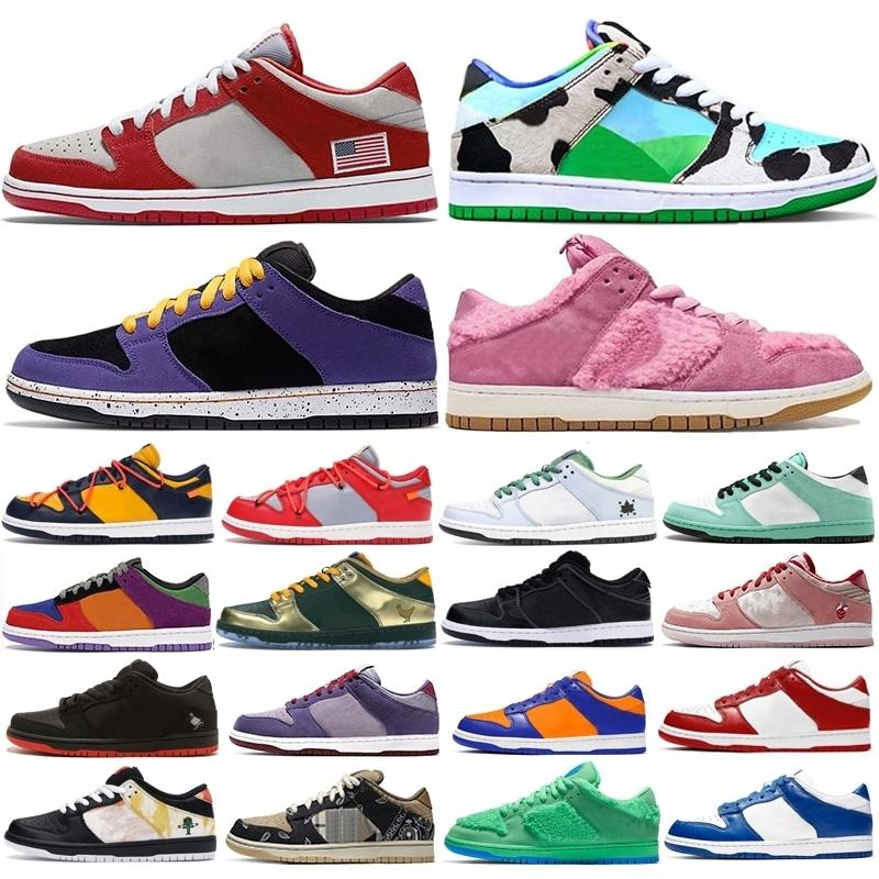 2020 Chunky Dunky Orange Bear Skateboard Basketball Chaussures Plate-forme ACG Terra Pigeon Feuille Central Park Dunk Hommes Femmes Formatrices Sneakers pas cher