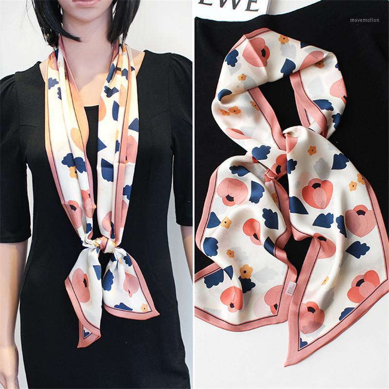 Узкая реальная шелковая полоса Xiao Si Jin женский тонкий тип для весны и осени западный стиль моды длинный квадратный полотенце маленький дельюрч1