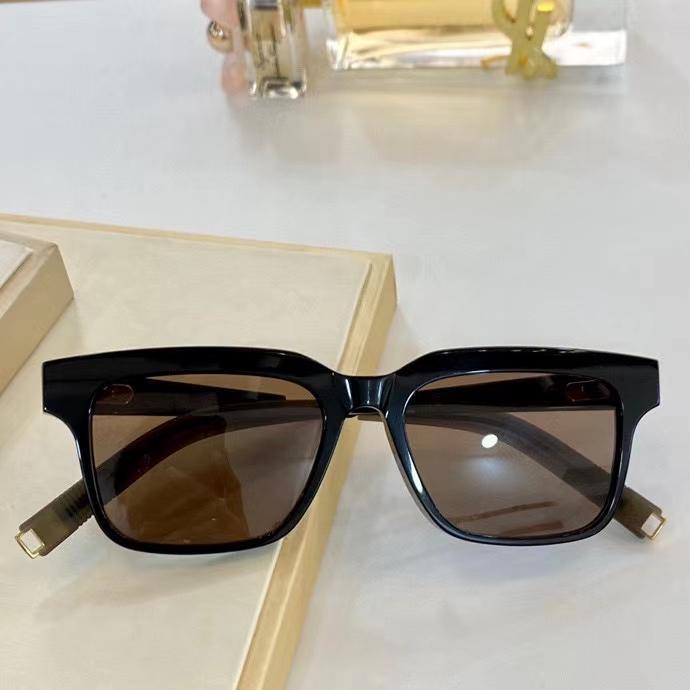 Очки подошвы черные мужчины оттенки кадр квадратная коробка мода солнце с оккулыми дай Лен коричневые солнцезащитные очки clnbr