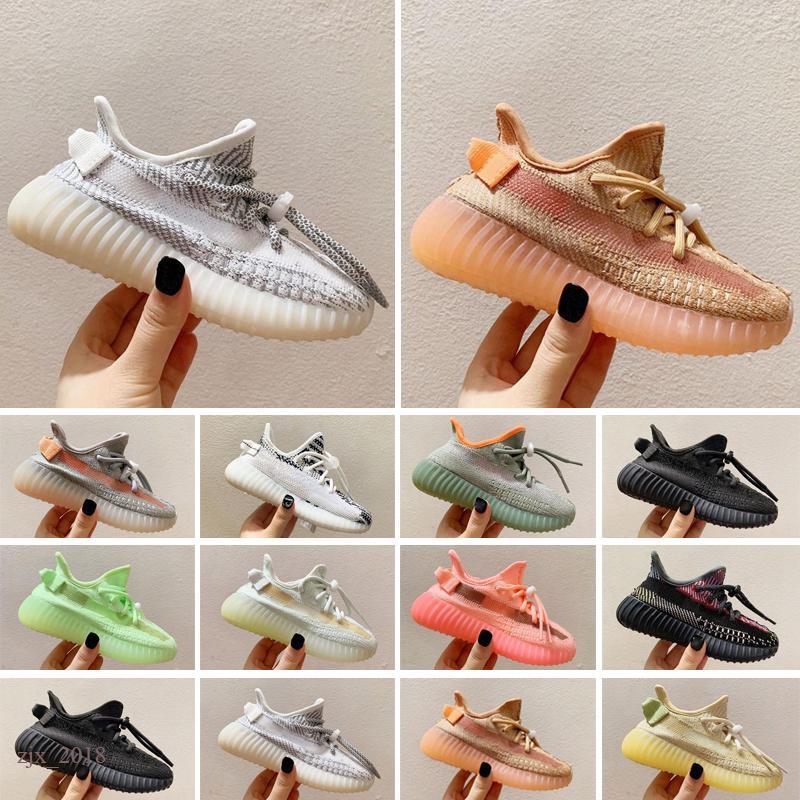 Yeezy 350 V2 Горячие Продажи Детская Обувь Хуараш Мальчики Обувь Детская Обувь Huaraches Открытый Малыш Атлетические Спортивные Детские кроссовки
