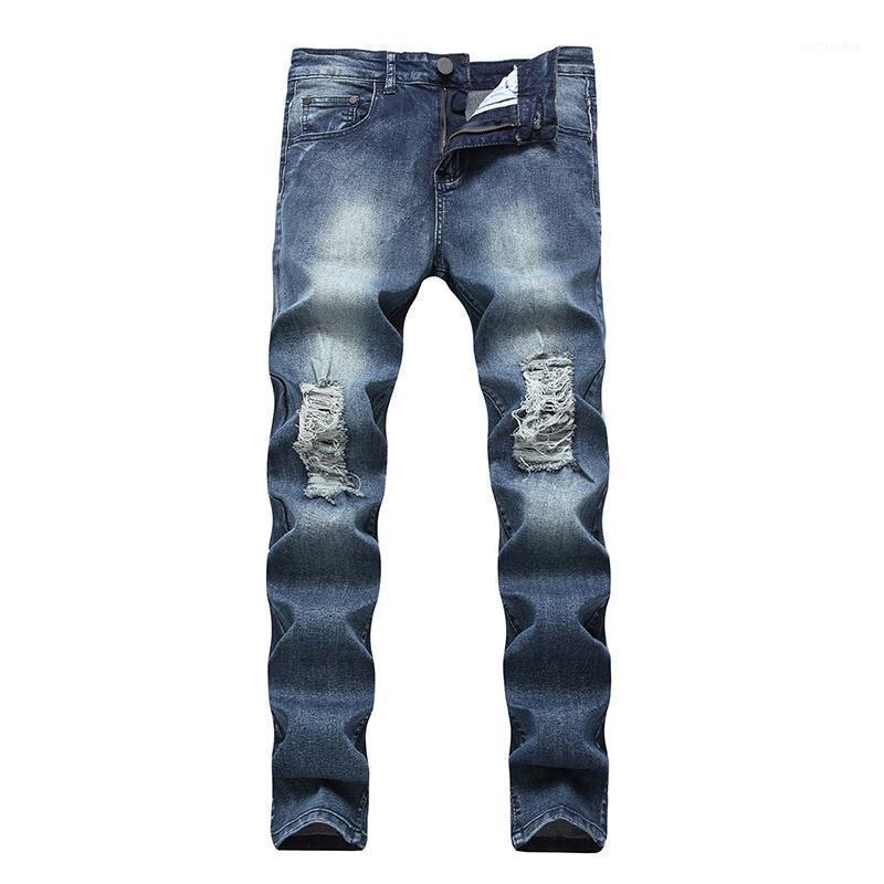 Jeans RPPIP Hombres Pies Pieles Pantalones de mendigos apretados Hong Kong Estilo Pantalones Harem Casual1