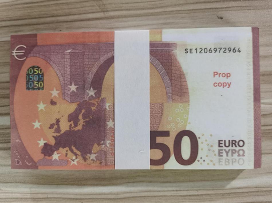 Die realistischste Prop Euro Money Bar Bühnenstütze Kinder Spielzeug Erwachsene Spiel Requisiten Sonderfilm Euro Geld 16
