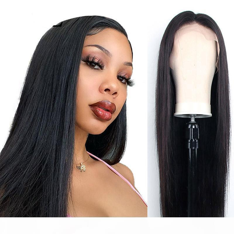 Full Lace Wig Pre Plucked Natural Hairline With Baby Hair Long Straight Lace Front Human Hair Wigs For Women Peruvian Remy Hair