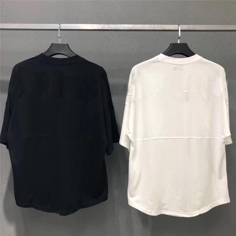 아름다움 조수 천사 대형 백 인쇄 팜 라운드 넥 짧은 소매 티셔츠 남성과 여성 3 색