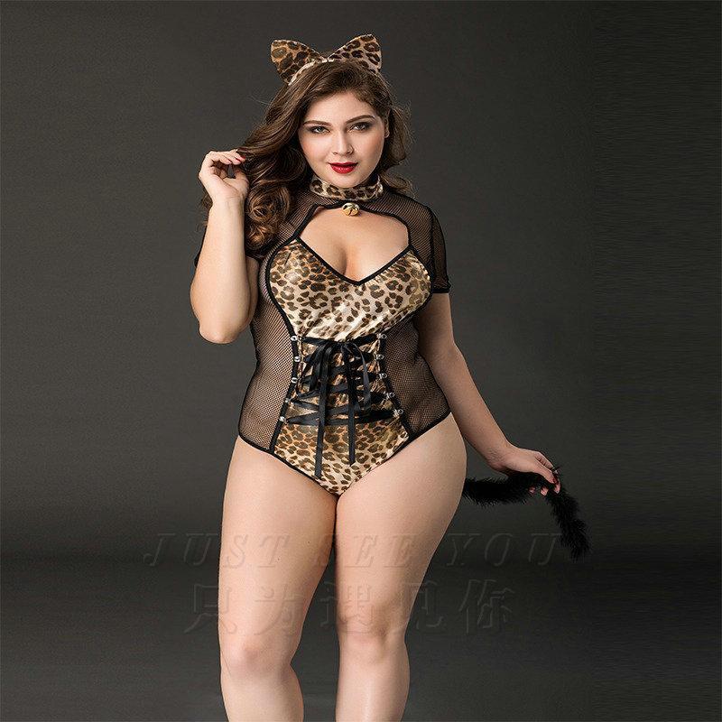 European American grande taille Chat et lapin fille caractère uniforme jeu cosplay Boîte de nuit Bar Set Lingerie Sexy