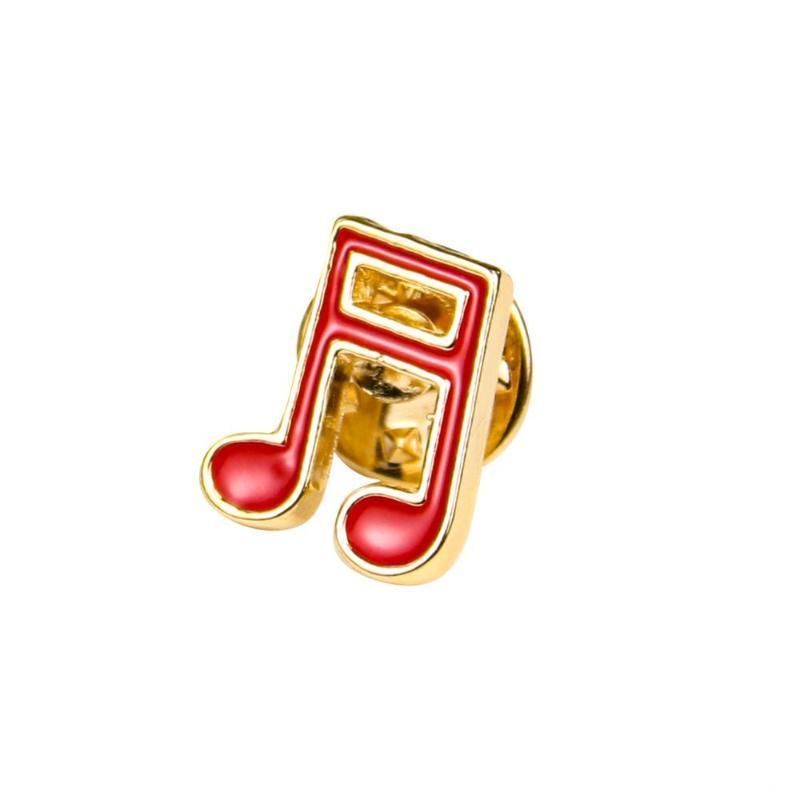 Exquisite Email Musikinstrument Hinweis Zinklegierung Goldtonbroschen Schmuckherstellung Zubehör