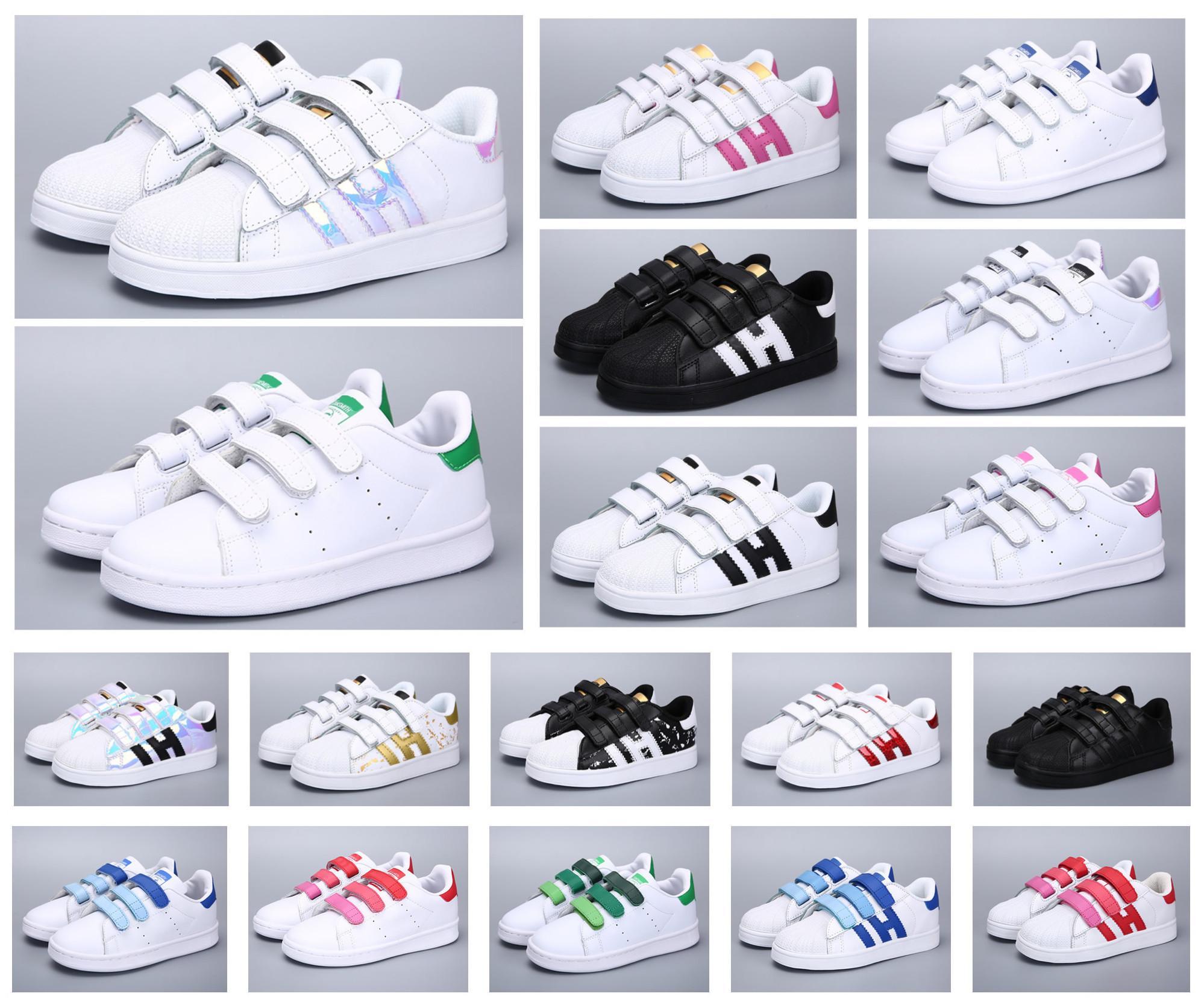 الكلاسيكية الشباب ستان سميث نجم الاطفال بنات الطفل بنين طفل الأطفال أحذية رياضة عارضة الحجم 24-35