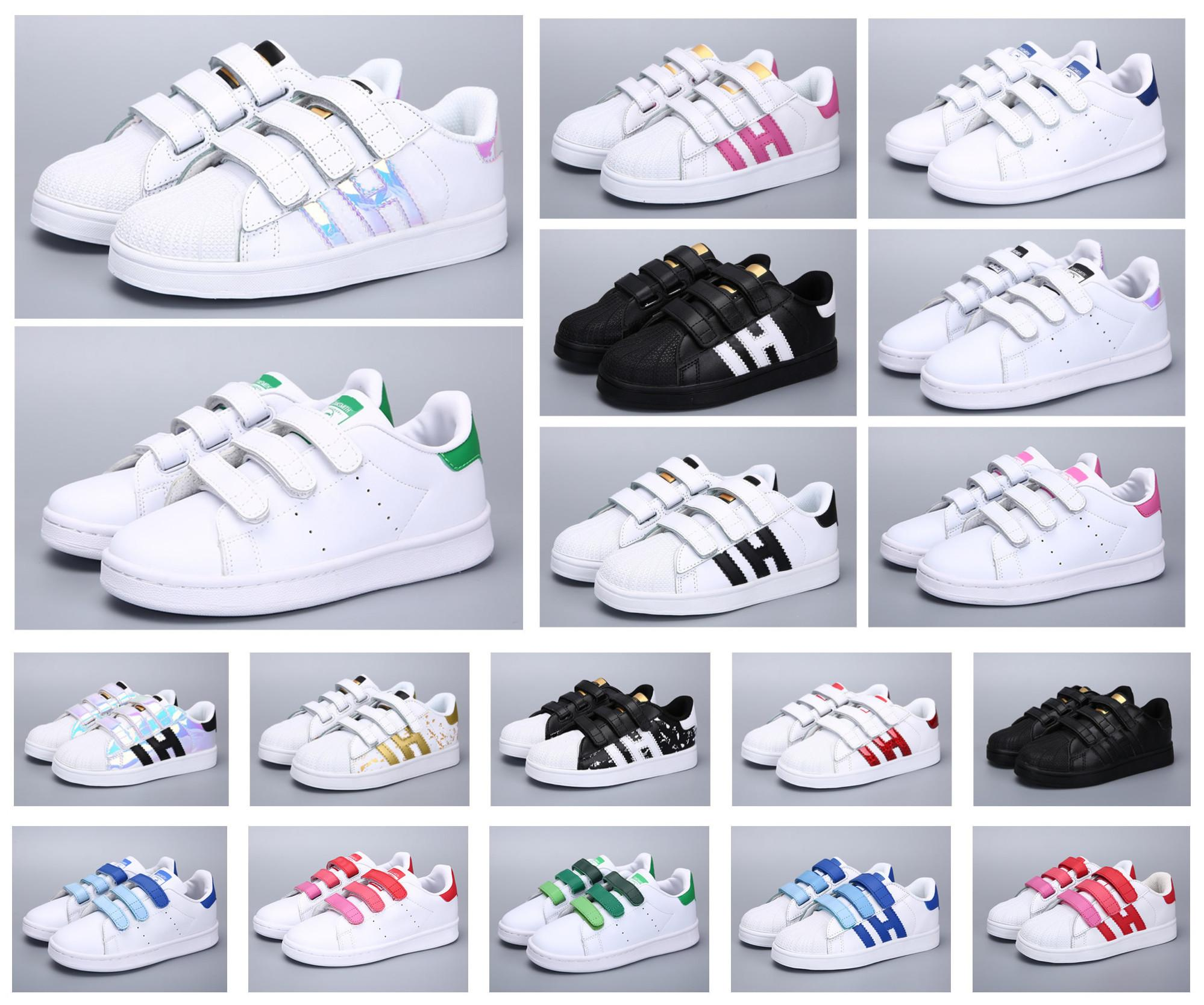 Klassische Jugend Stan Smith Superstar Kinder Mädchen Kind Jungen Baby Kinder Schuhe Casual Sport Größe 24-35
