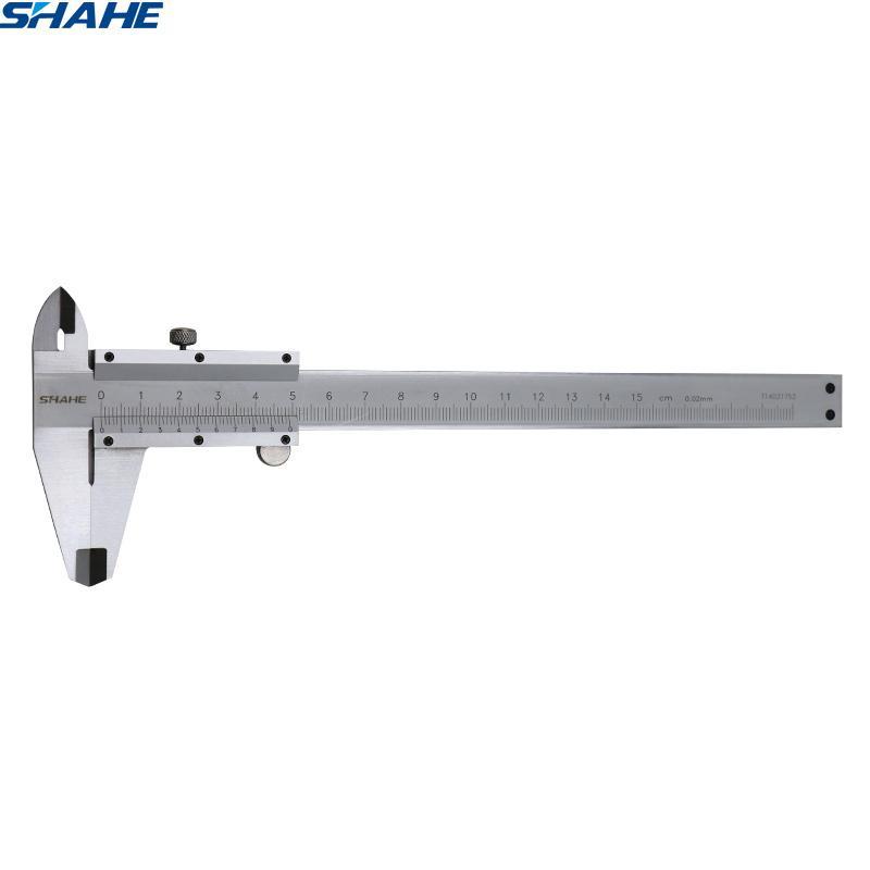 Shahe 0-150 مم 0.02 ملليمتر Vernier الفرجار الفولاذ المقاوم للصدأ ميكرومتر قياس أدوات قياس T200602