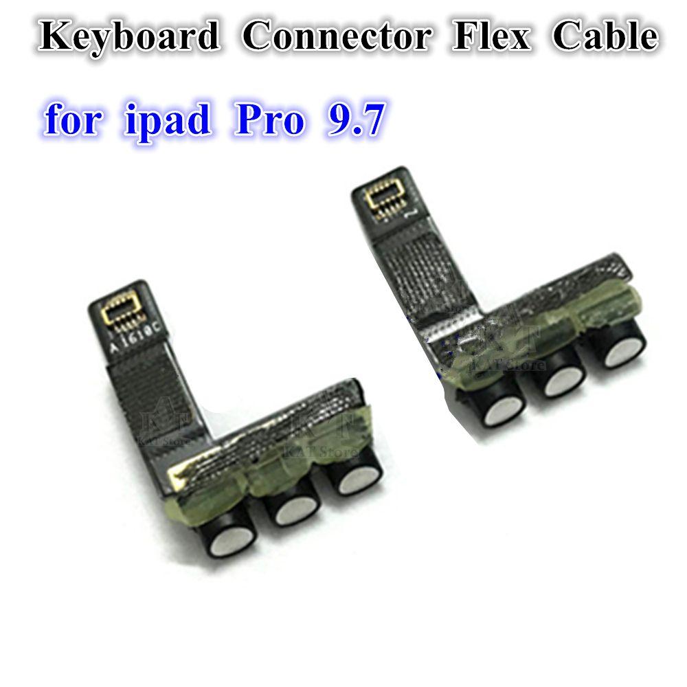 1 ADET Akıllı Klavye ile Flex Kablo Şerit Bağlayıcı Bağlantı Port Ipad Pro 9.7 A1673 A1674 A1675 Klavye Bağlayıcı Flex Yedek Parçalar