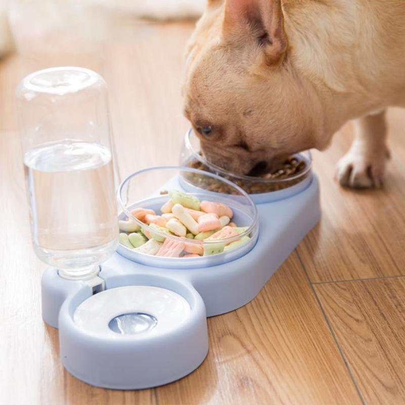 Kedi Kaseler Besleyiciler Çift Pet Köpek Su Besleyici Paslanmaz Çelik İçme Bulaşık Yavru Besleme Malzemeleri Küçük Aksesuarlar