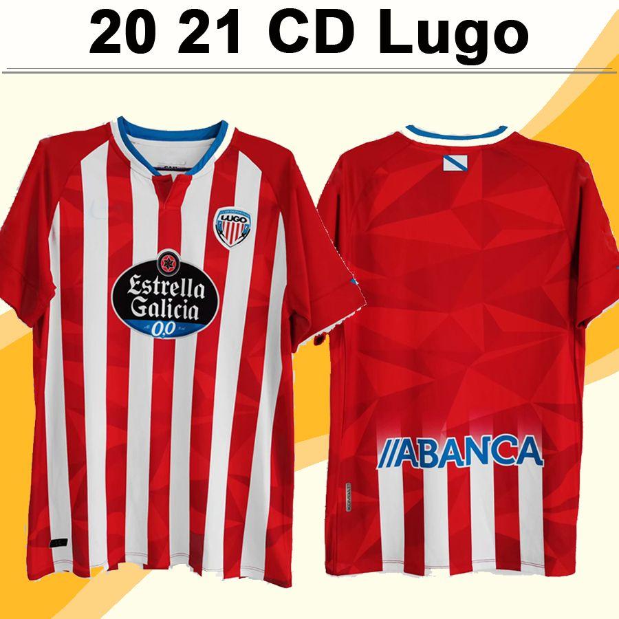 20 21 CD Lugo Mens Soccer Jerseys BARREIRO HERRERA PEDRO HUGO RAMA CHRIS RAMOS Home Football Shirt Adult Short Sleeve Uniforms