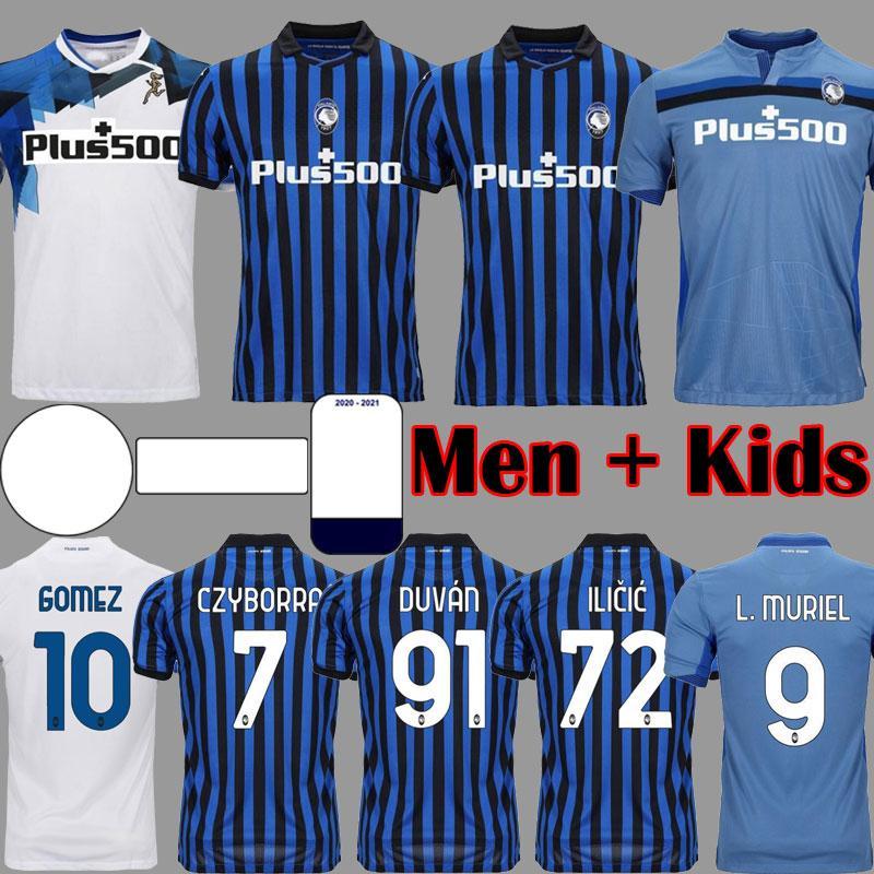 Atalanta FC Soccer Jerseys Gomez 2020 21 Muriel ilicic de Roody Duvan Atalanta BC Maglia Da Calcio Men Kid Kit Commets Shirts