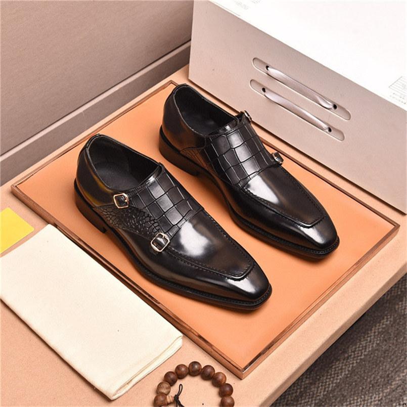 19ssisch Italien Oxford Schuhe Männer Luxusmarken Herren Lackleder Schwarze Schuhe Herren spitzte Spitze Kleid Schuhe Klassische Derbies