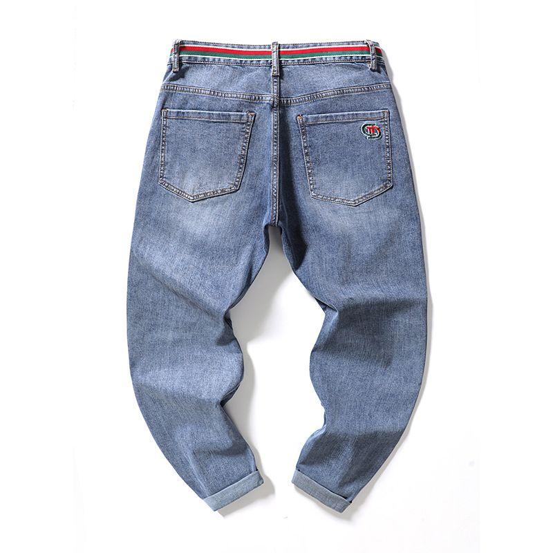 Pantalones largos de moda simple de los pantalones largos de los pantalones vaqueros de los pantalones vaqueros de los pantalones de moda delgado delgado