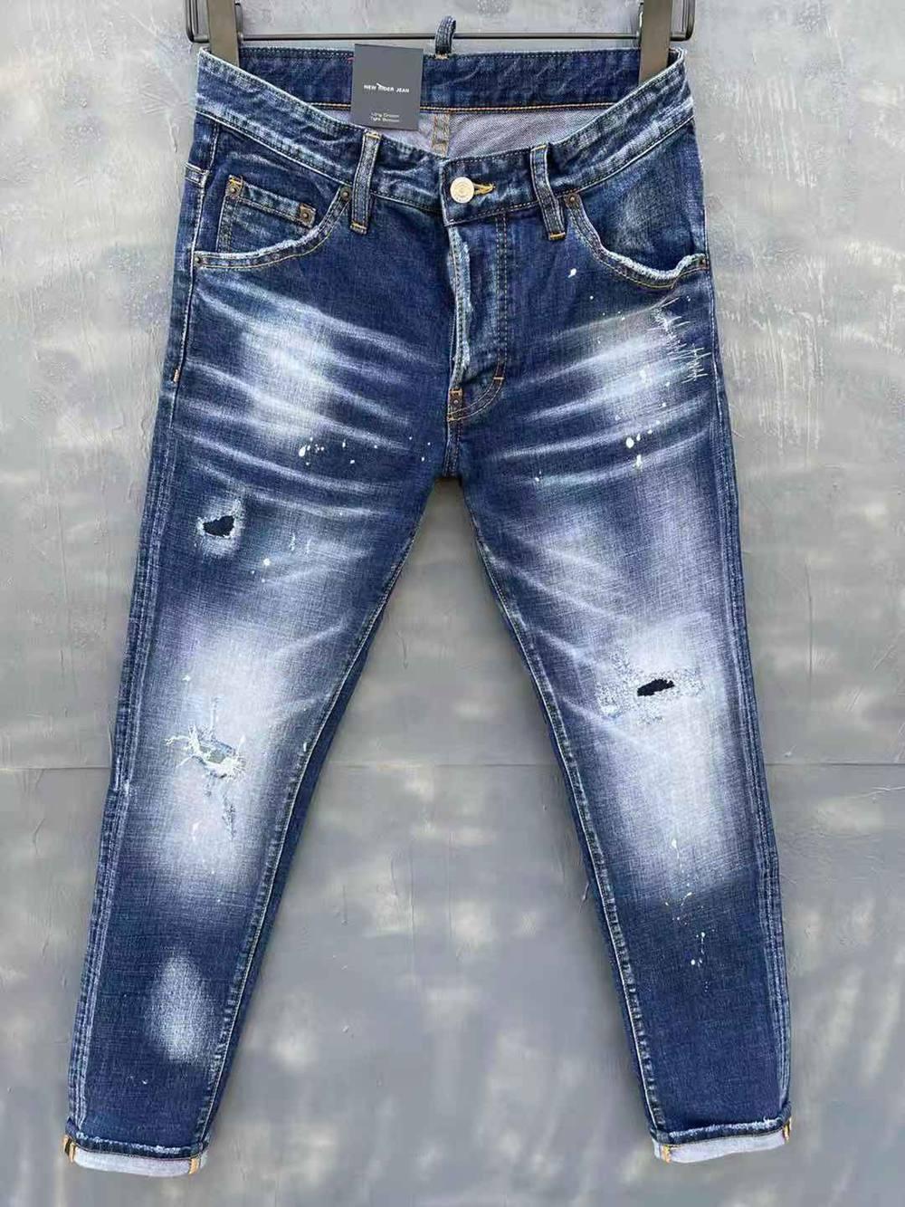 2021 Neue Marken Europäische und amerikanische Mode Herren Lässige Jeans, hochwertiges Waschen, reines Handschleifen, Qualitätsoptimierung LT9150