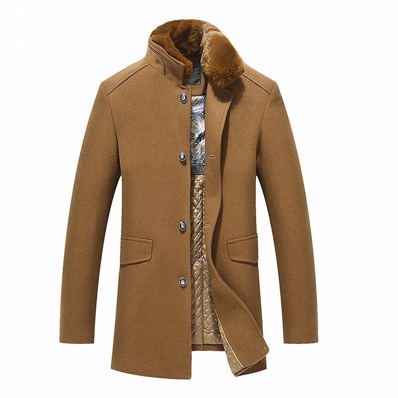 Isurvivor caduta / inverno nuovo stile peluche cappotto di lana cappotto di pelliccia collare in lana cappotto da uomo casual alla moda
