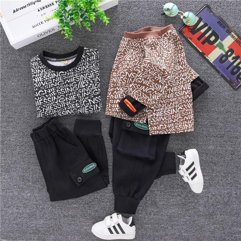 vêtements enfants bébé garçon vêtements enfants designer vêtements garçons bébé automne pantalon à capuche mode bambin tracksuits vêtement ensembles de vêtements