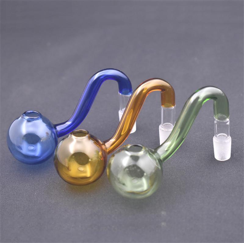 Красочный стеклянный масляный горелка для горелки 10 мм 14 мм 18 мм мужской женский пирекс стеклянный водопроводной труб для монтажных бонги стеклянные масло