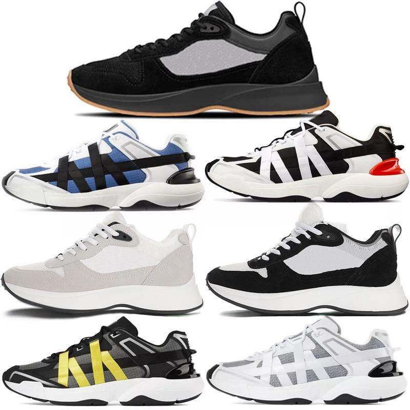 2021 con scatola Best B25 B25 Oblique Runner Sneaker uomo Piattaforma Scarpe Designer Black Black Suede in pelle scamosciata Scarpe casual in pelle scamosciata # 565