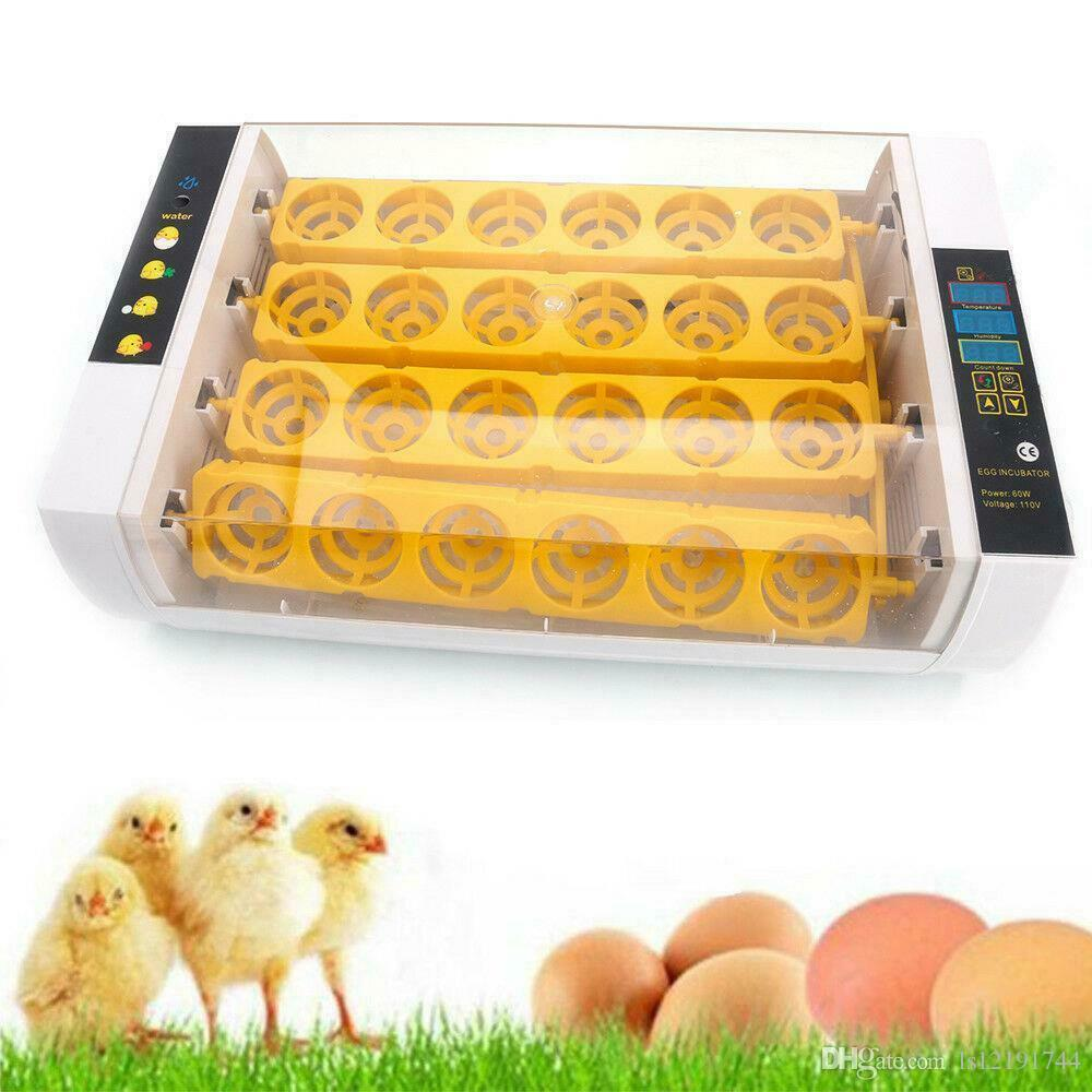 Yeni Otomatik 24 Dijital Civciv Kuş Yumurta Kuluçka Hatcher Sıcaklık Kontrolü