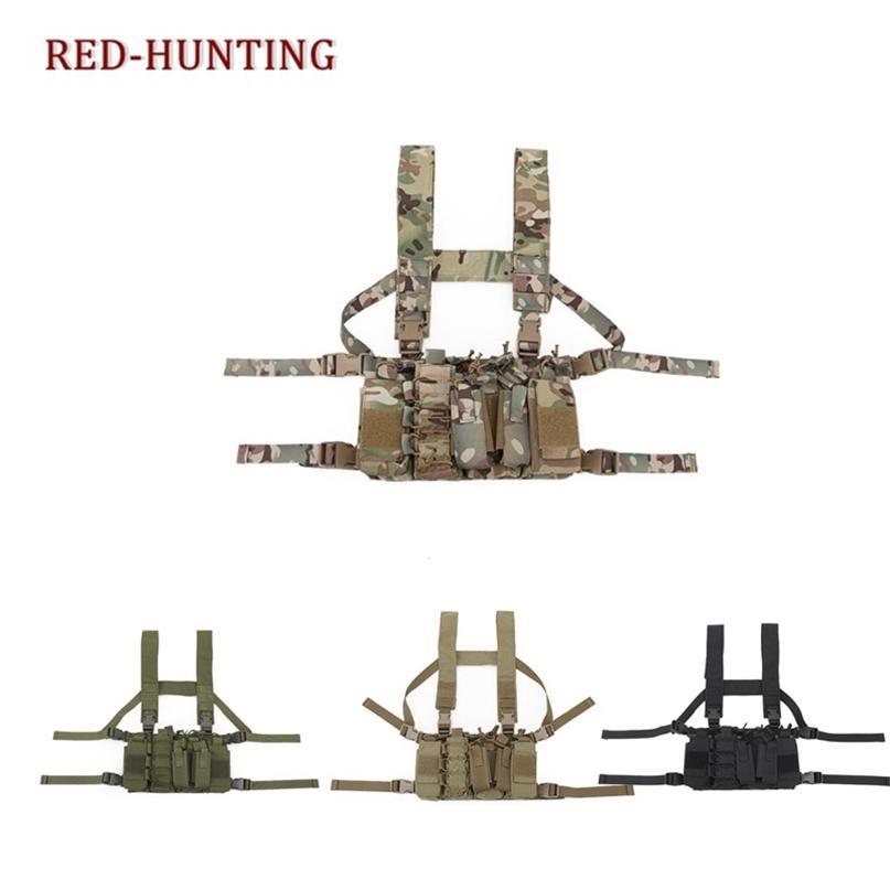 Nuovo Mag Carrier Chest Gilet Tactical Torace Rig Airsoft Caccia Gilet leggero Vestito tattico Gamild Molle Portabicchieri per M4 M16 201215