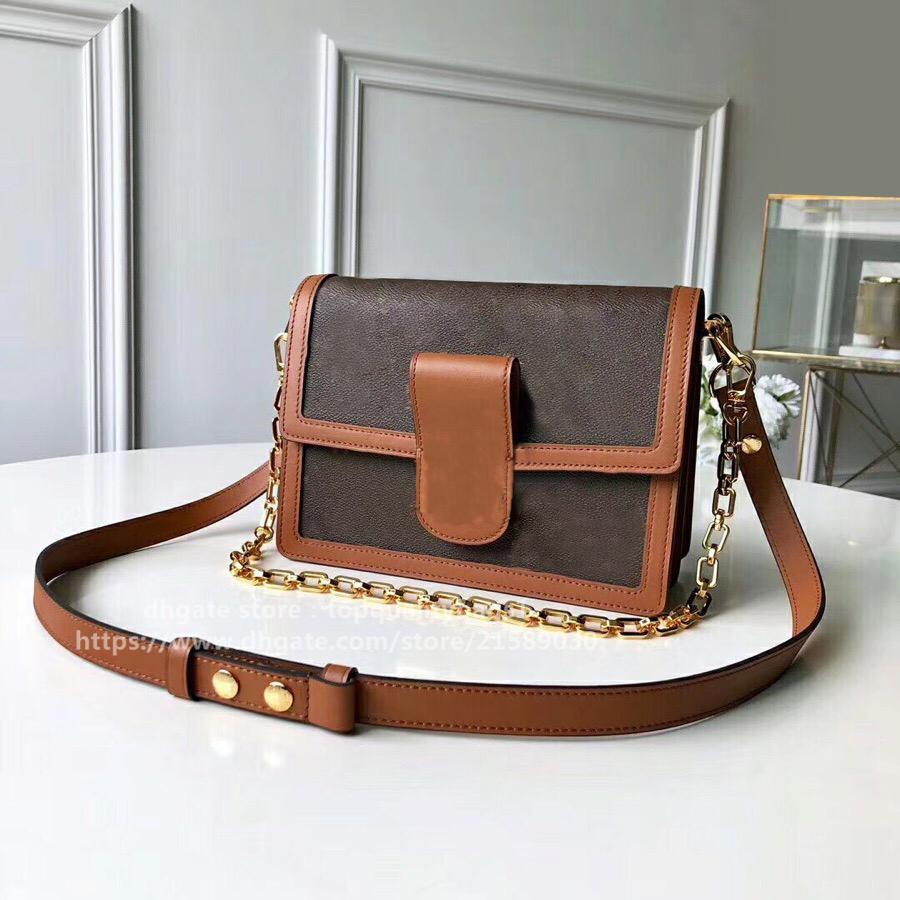 2020 New Fashion M44391 Dimensioni 25 cm Designer di alta qualità Fashion Genuine Leather Borsa a tracolla Lettera Classic Lettera Borsa Borsa GRATUITA