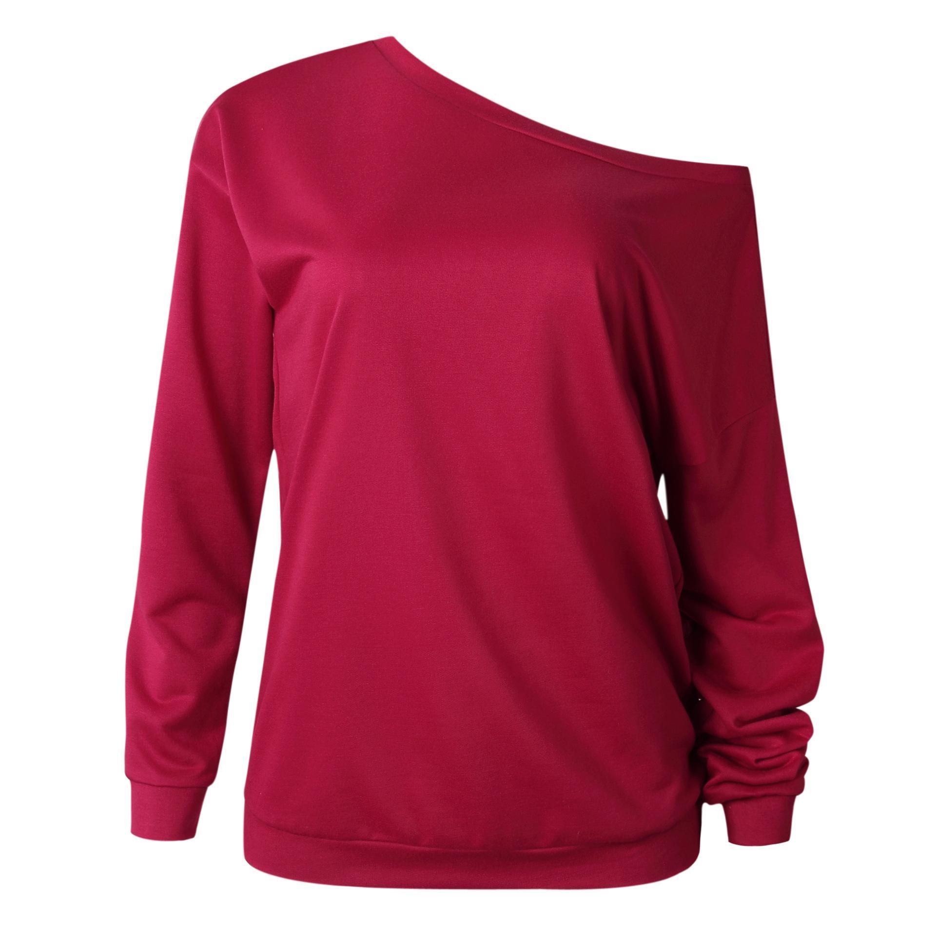 Oferta de diseño de moda Ropa T Sudaderas Camisa al por mayor Materiales Materiales Cómodo Diseño Hombro 2021 Mujer Algodón Cyrinc06 KPJMO