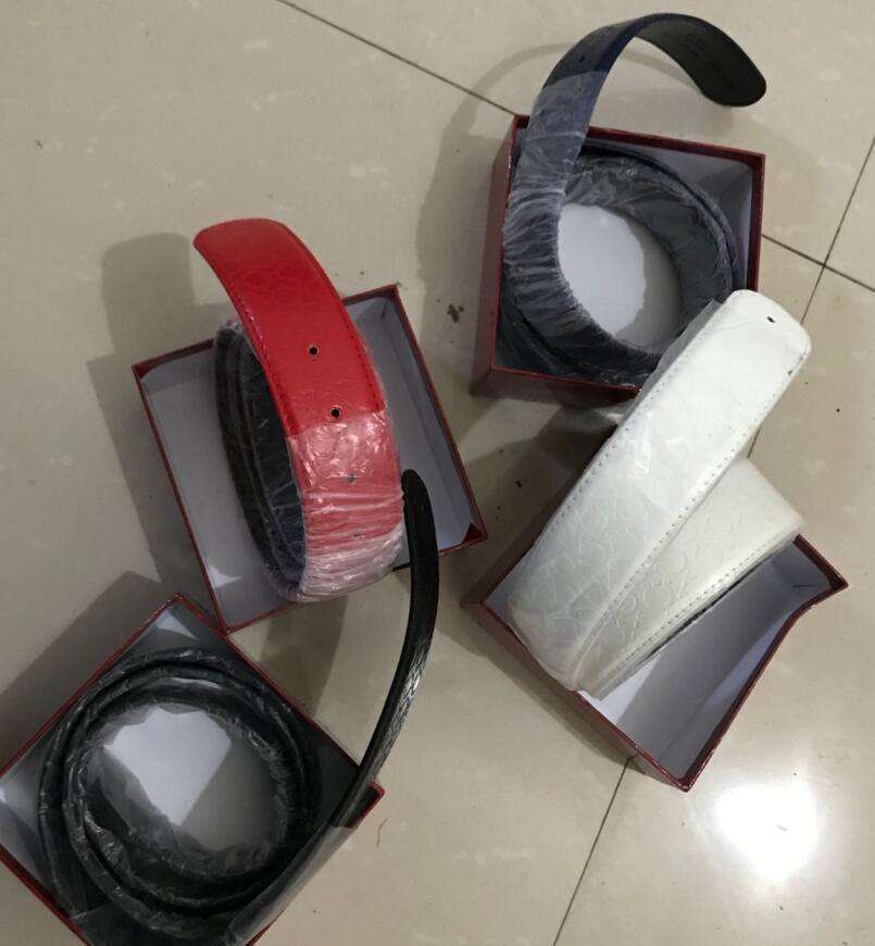 新しいファッション男性ベルト高品質ベルトビッグバックルデザイナー本革ベルトボックス付きの女性ベルト