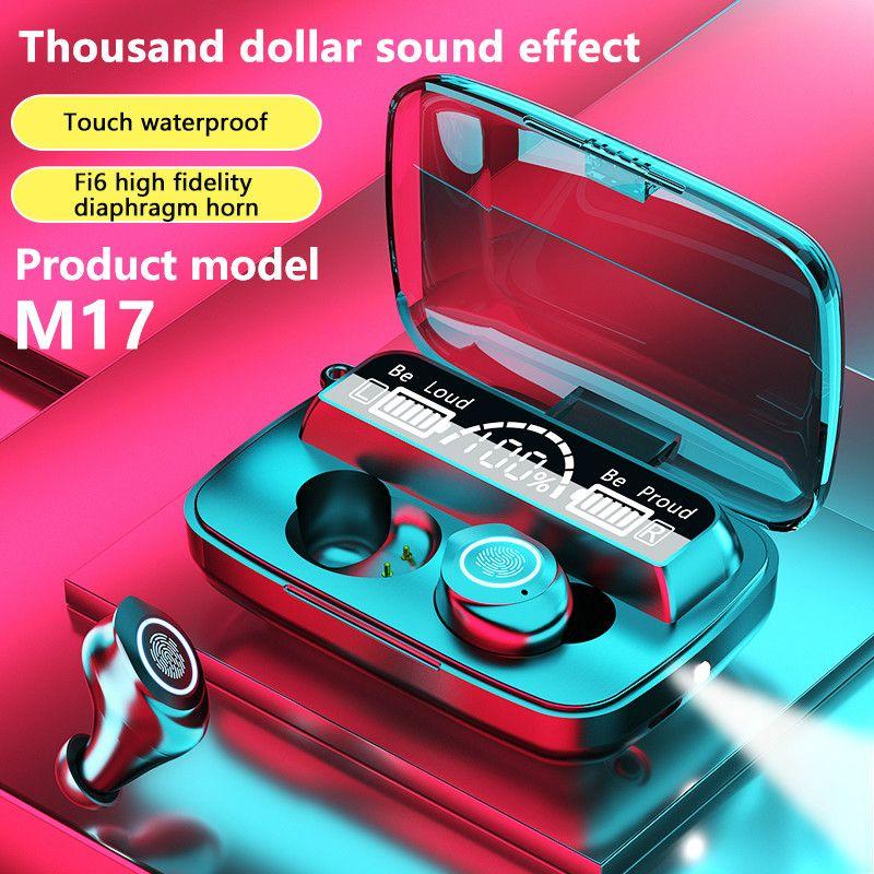 TWS Bluetooth-Ohrhörer V5.1 Stereo-Ohrhörer M17 Wireless Bluetooth-Kopfhörer In-Ear-Headsets für alle Smartphone wasserdichte Ohrhörer