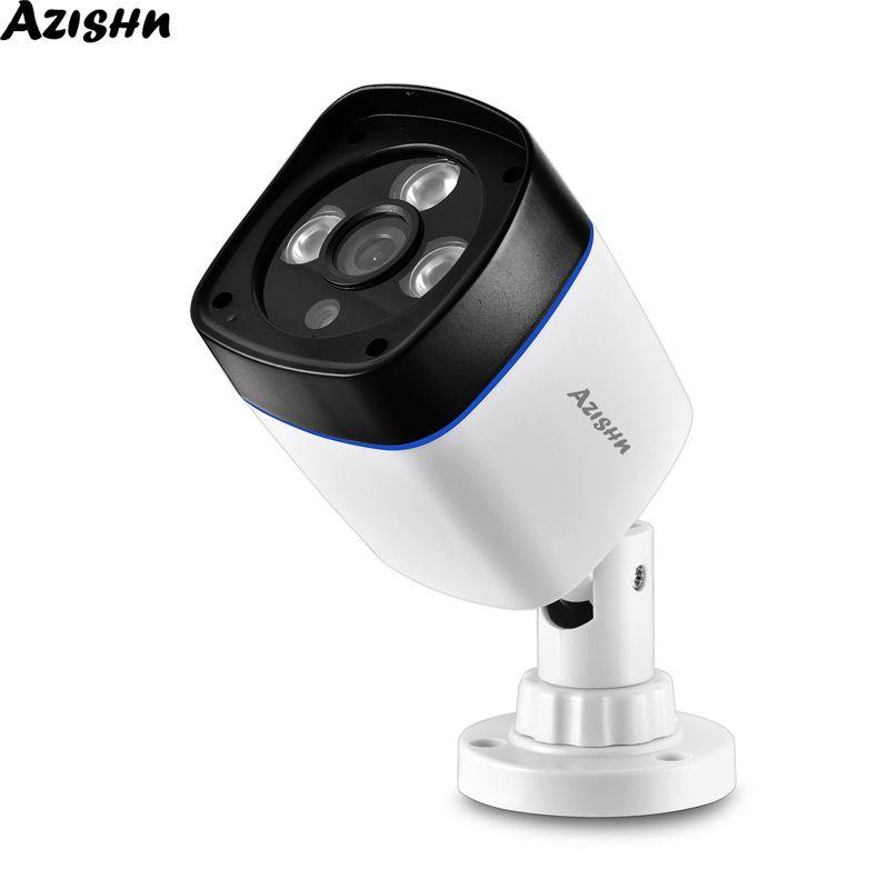 Azishn H.265 IP Kamera 1080 P Güvenlik Açık Su Geçirmez 2MP Gece Görüş CCTV Gözetim Video Ağı Kamera 48 V Poe Opsiyonel LJ201209