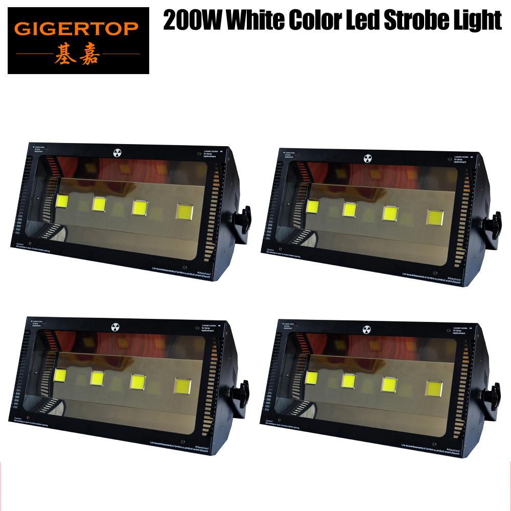 TIPTOP 4 Pack 200W Stage LED Strobe Licht Breed Voltage 90V-240 V Pak All World 4x50W High Power Led Lamp LCD-scherm Nieuw ontwerp