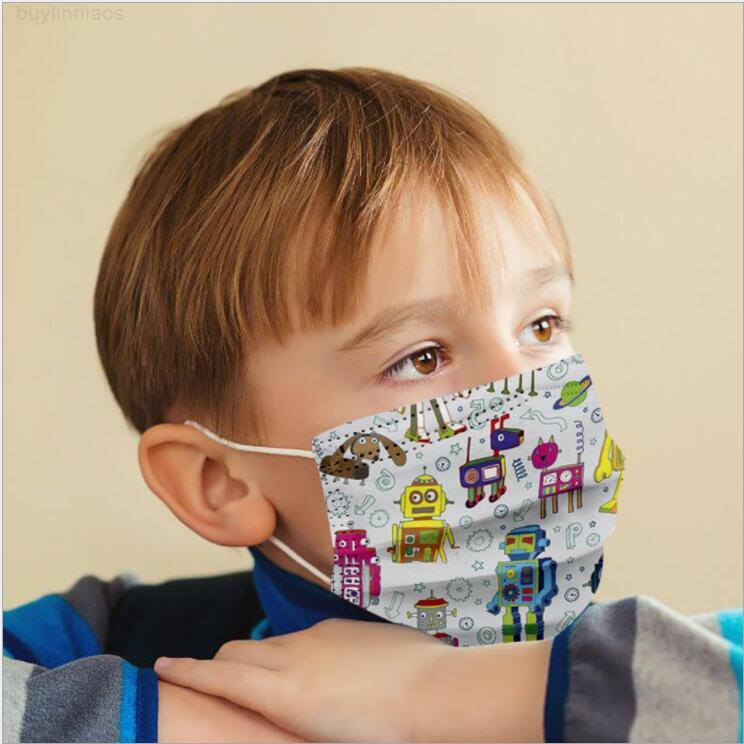 Dinossauro crianças máscara desenhos animados impresso face descartável abóbora impressão boca capa personalidade designer masks lsk1892