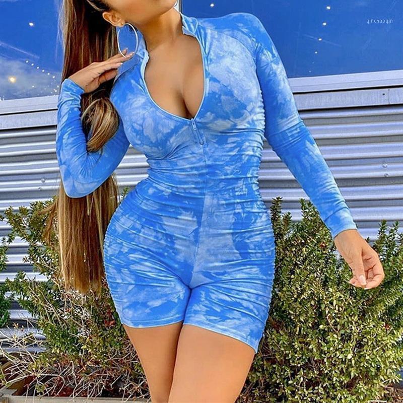 Mujeres de manga larga entrenamiento activo Weartie Dye Frunched Casual Shorts Minamalles Mujeres de manga larga Entrenamiento Activo Desgaste Flaca Fashion1