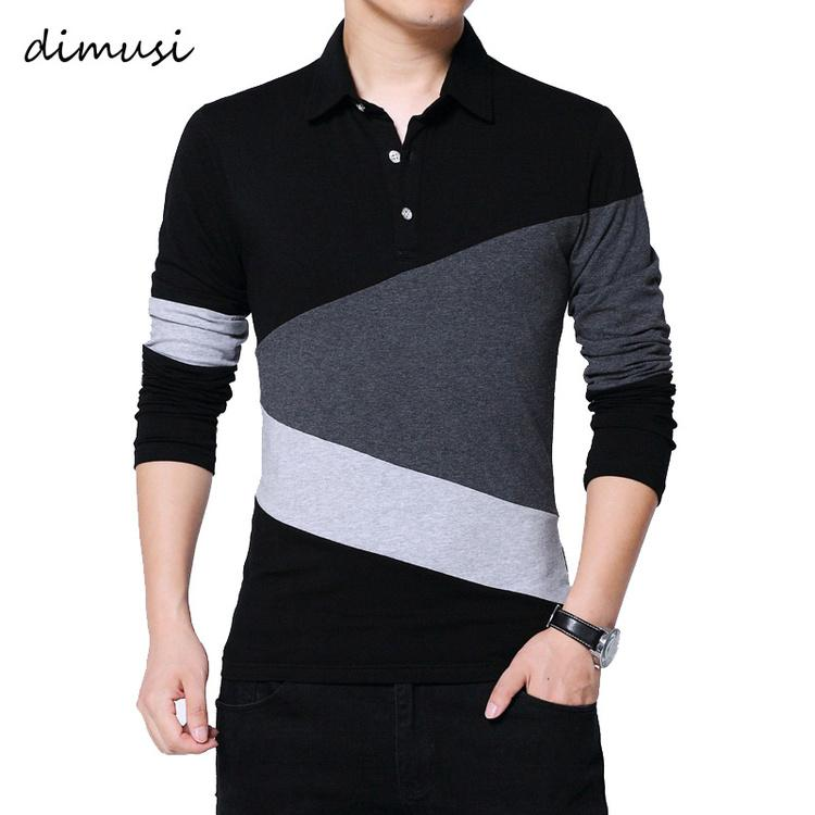 Bahar T Gömlek Erkekler Uzun Kollu Tişört Turn-Aşağı Şerit Tasarımcısı Slim Fit Gevşek Rahat Pamuk Gömlek 5XL KG-177