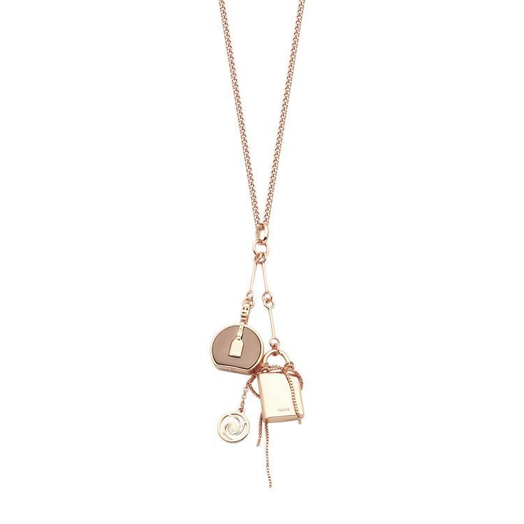 حار حار جديد أزياء 316l التيتانيوم الصلب مجوهرات قلادة قلادة 18 كيلو الذهب روز الفضة قلادة للرجال والنساء زوجين هدية