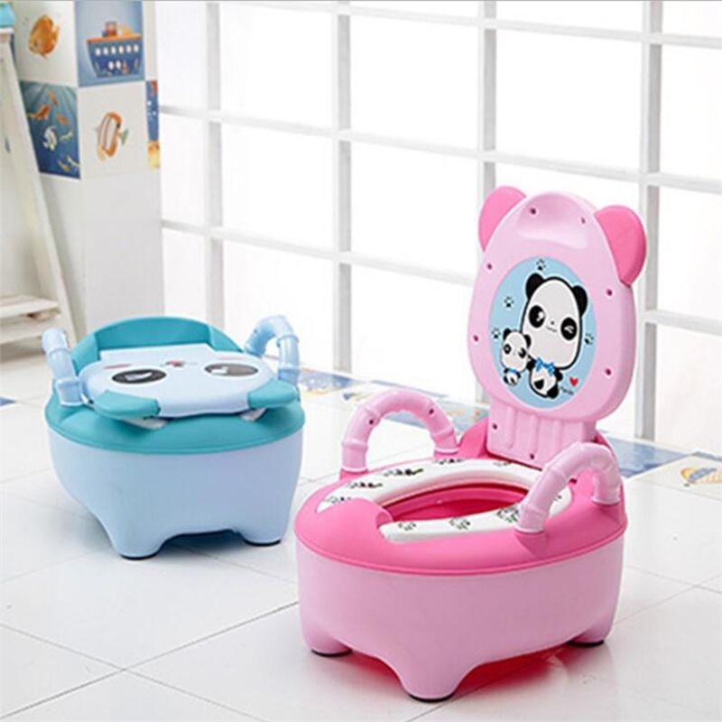 Портативный детский горшок для детей Baby Boy Botty тренировка сиденья младенческой дороги POTCOMBORTALE COделия туалет мультфильм милые горшки 201119