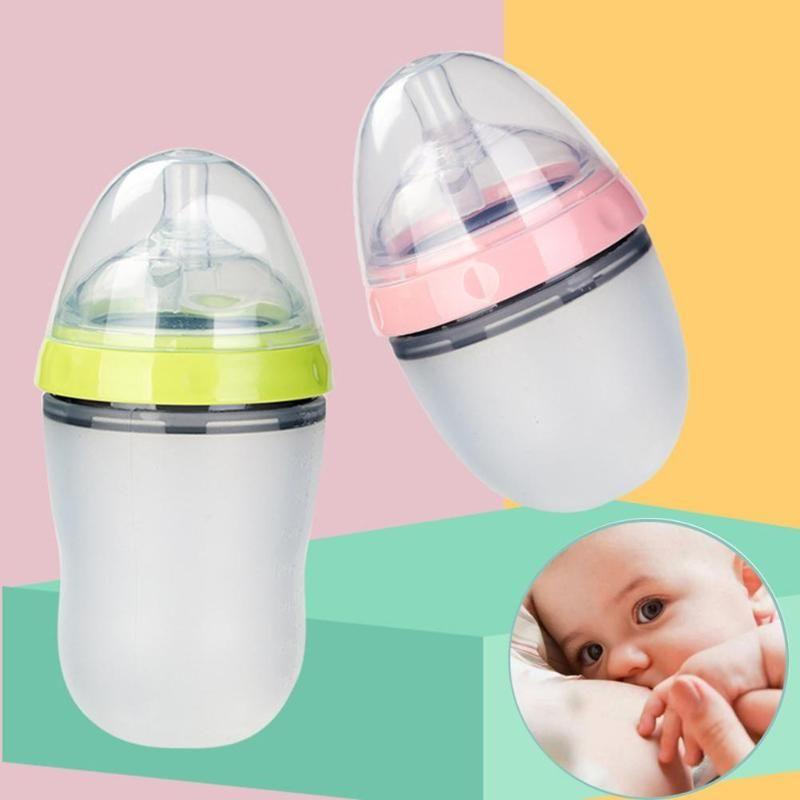 Baby Bridgemilk Бутылка Широкий шеи Мягкие силиконовые кормления Дианализация молока Контейнер для детей Мамадира соска бутылка новорожденного