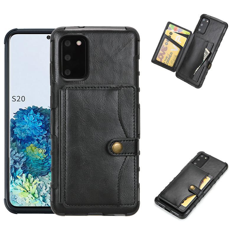 Funda telefónica de cuero PU para iPhone12 11PRO MAX XS MAX 8PLUS XR Wallet Funda telefónica para Samsung S10Plus Note 10