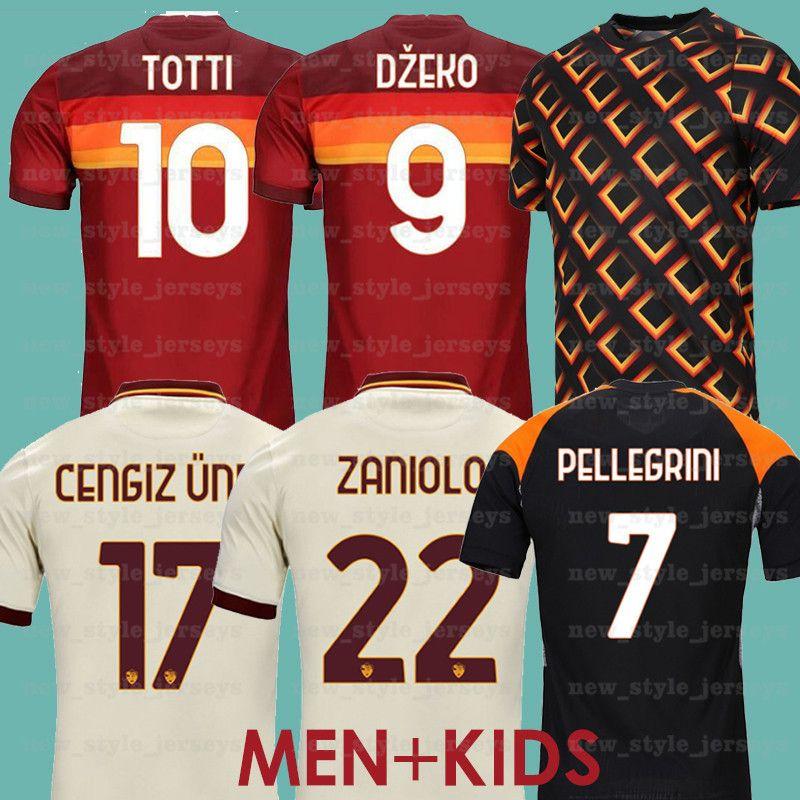 20 21 Jersey de football Ronaldo Dzeko Totti Pellegrini Maillot de pied Kolande Kluivert Kluivert Hone Away BabyKit Camiseta de Futekol